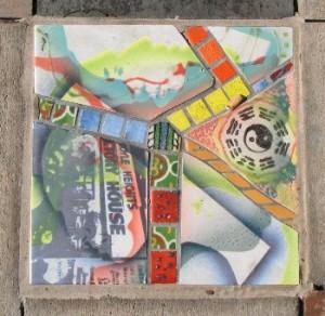 Historical tile East L.A. Civic Center