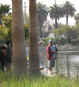 Fisherman at Echo Park Lake
