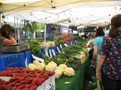 Vegetable stand at montrose markete market california