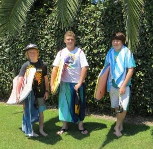 Boogieboarders in Sel Beach