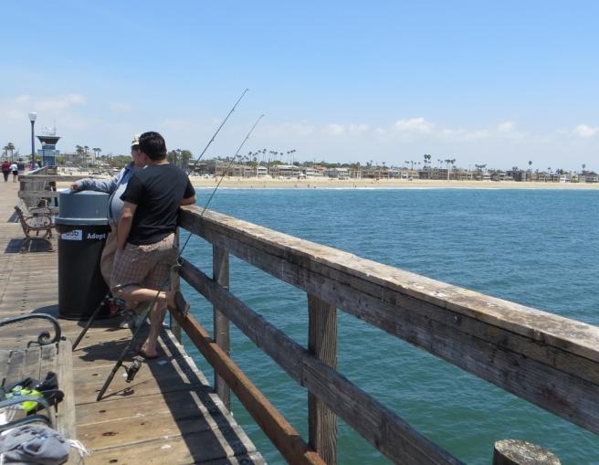 Fisherman at Seal Beach Pier