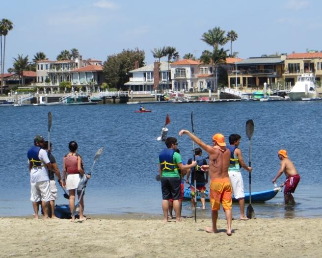 Let's go kayaking Long Beach California