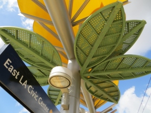 East L.A. Metro station canopy