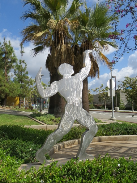 statue of man at east l.a. civici center