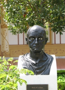 sculpture Bust of Man at GEtty Villa