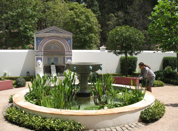 small garden at Getty Villa Malibu