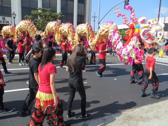 Golden Dragon in parade 2015