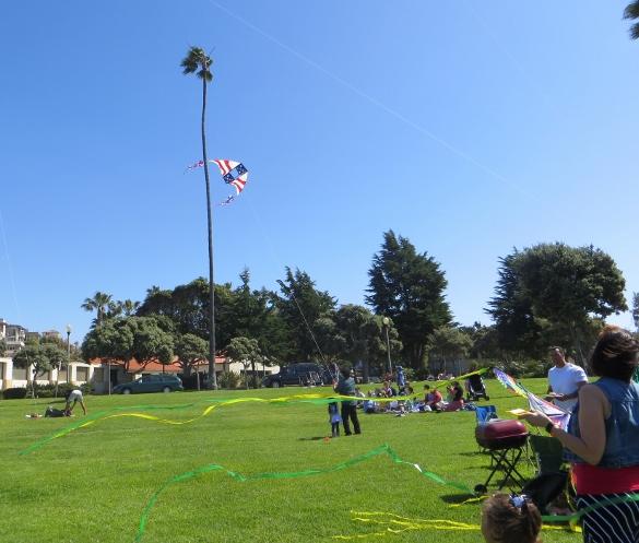 American flag kite Redondo