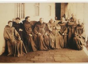 Franciscan brothers at Santa Barbara Mission