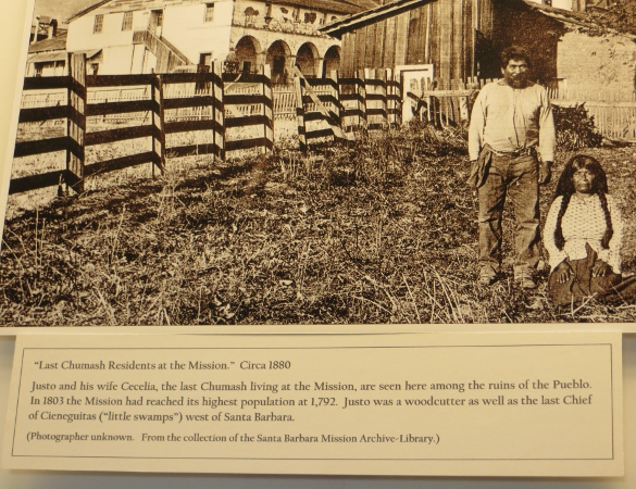 last Chumash residents of Santa Barbara Mission