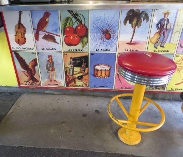 Loteria take-out Mexican food stall