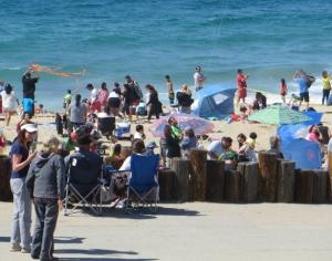 On the beach Redondo Beach kite festival