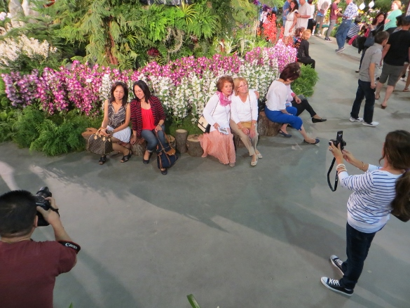 Phototgraphing friends at the orchid show