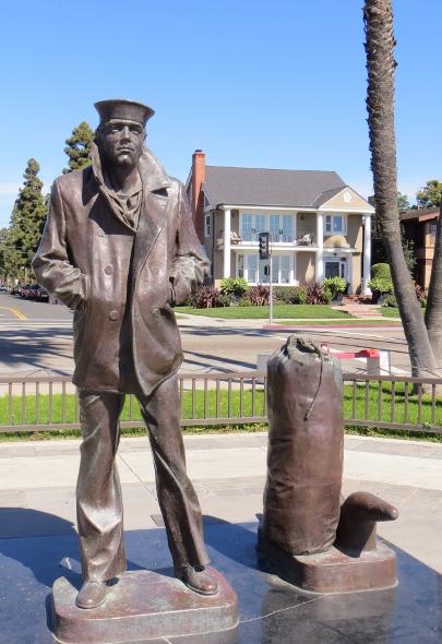 World War II Sailor in Bluff Park Long Beach