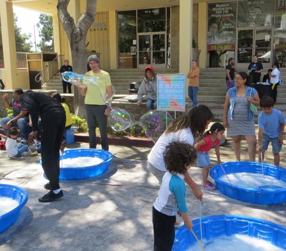 Bubbles at Burbank Art Fair