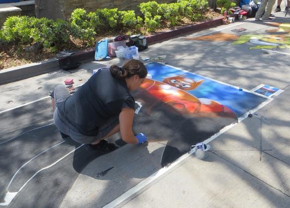 Chalk art at Burbank Fair