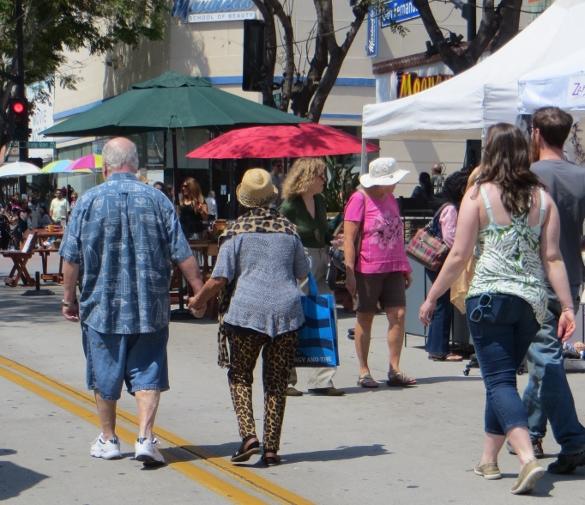 Woman in lepart pattern pants