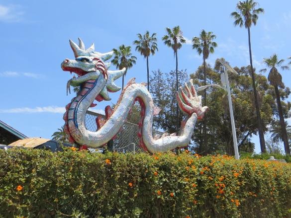 Dragon sculpture at Lotus Festival