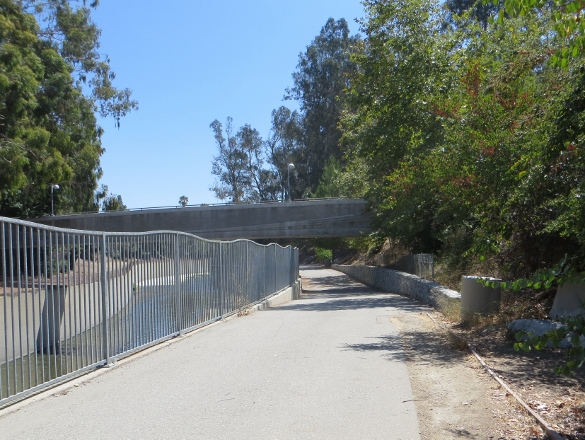 pedestrian bridge over L.A. River