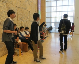 Japanese students at Getty Museum