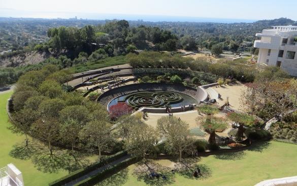 Robert Irwin gardens at Getty