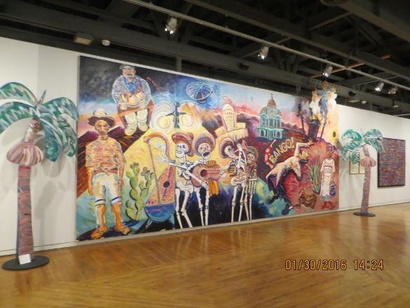 Frank Romero painting at Molaa