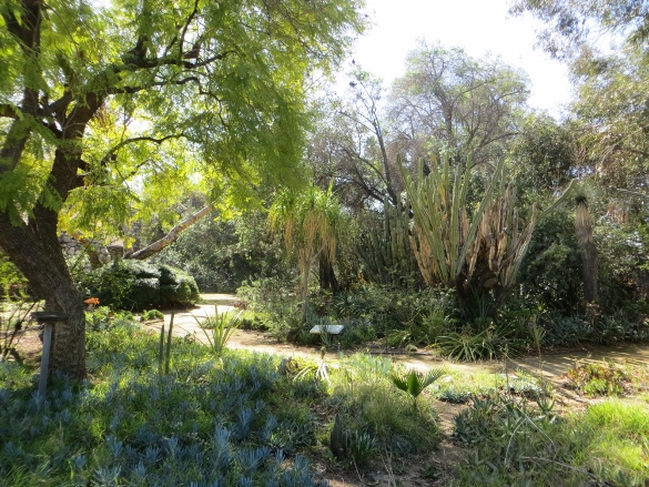 Garden at Lummis house