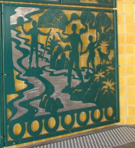 Gold Line Allen station art