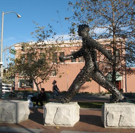 South Pasadena Walking man statue