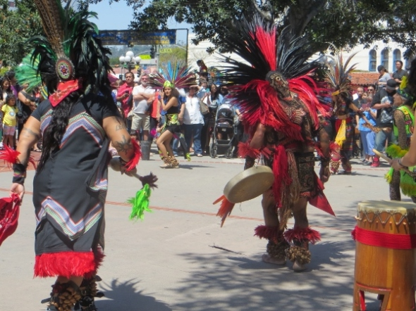 Aztec Fiire Dancers red feathers