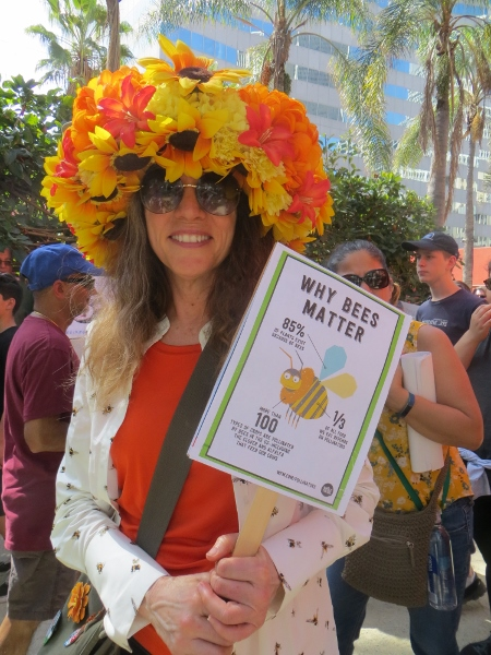 flower hat for bees science march