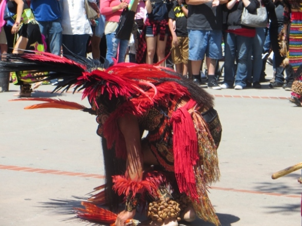 red black feather dancer olvera st