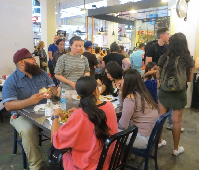 Family lunch at Grand Central Market