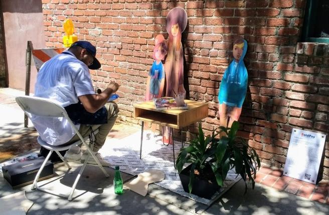 Andrew Hem painting