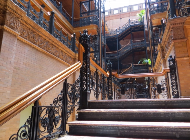 Bradbury Bldg interior stairs