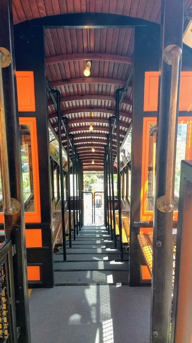 Angels Flight cable car inside