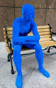 Blue Lego Man Park People Los Angeles