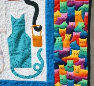Detail cat quilt border