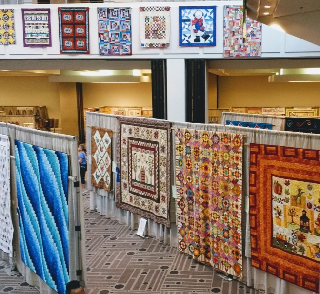 Glendale quilt con overview