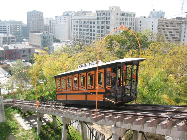 Angels Flight rail car Los Angeles