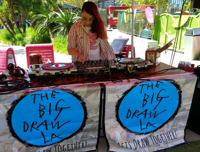 CicLAvia DJ at art hub