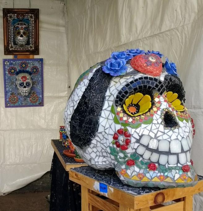 osaic skulls by Mary Clark Camargo