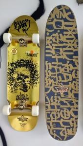 Skull head skateboard