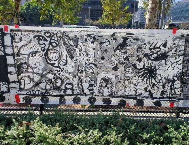Sumi ink art CicLAvia oct 2017