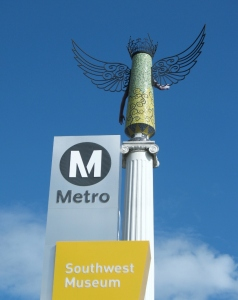 SW Museum angel Metro sign