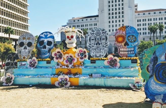 Day of Dead 2017 Grand Park skulls