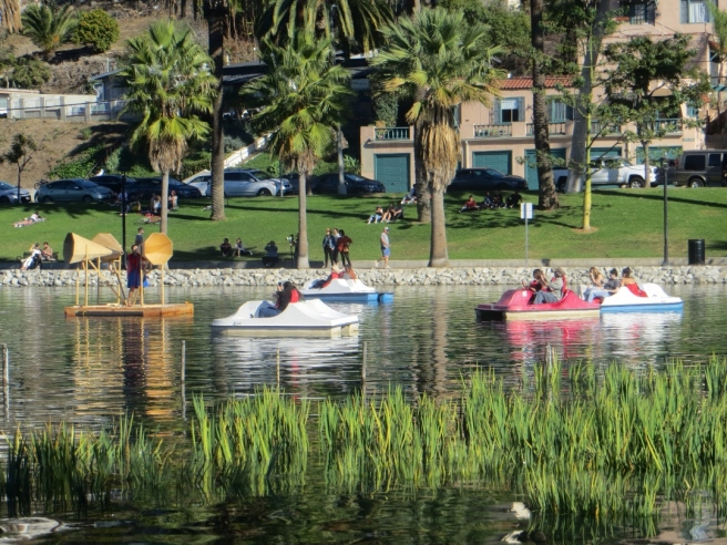 audience in boats at fiesta perpetua echo park