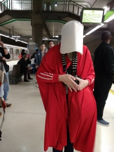 Womens March Handmaid in Metro