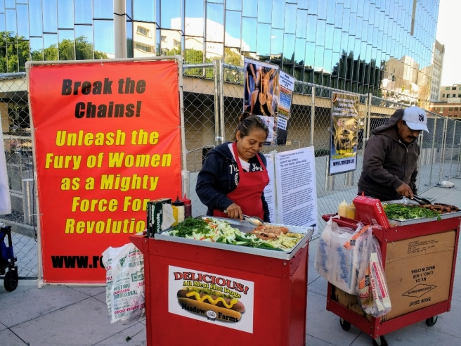 Womens March street vendor