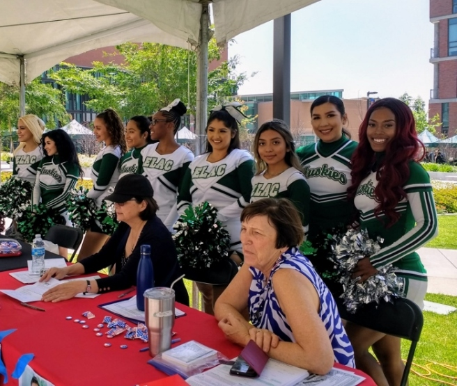 East LA College cheerleaders
